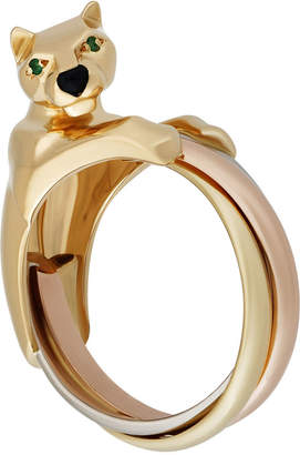 Cartier Estate Panthere Trinity 18k Triple Band Ring, Size 7