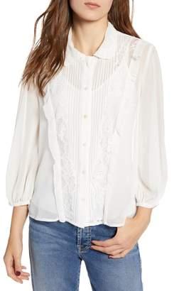 French Connection Amie Lace Shirt
