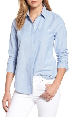 Women's Vineyard Vines Relaxed Fit Oxford Shirt $78 thestylecure.com