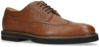 J.P Tods Grained Leather Derby Shoes