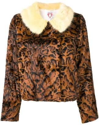 Shrimps leopard faux-fur jacket