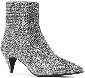 MICHAEL Michael Kors Women's Blaine Embellished Flex Kitten Heel Booties