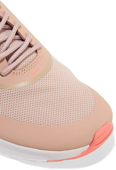 Nike - Air Max Thea Embossed Leather And Mesh Sneakers - Pink 2