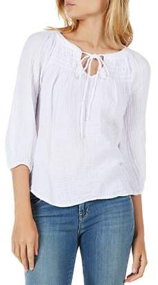 Michael Stars Smocked Peasant Top
