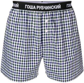 Gosha Rubchinskiy checked boxer shorts