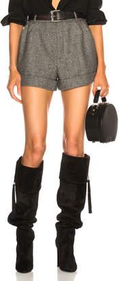 Saint Laurent Check Shorts