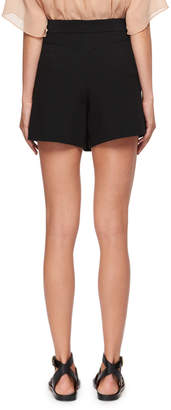 Chloé Diagonal-Front Crepe Mini Short-Skirt