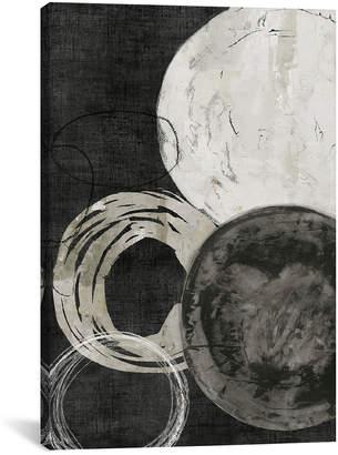 iCanvas icanvasart Black Rings By Pi Galerie Canvas Print