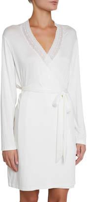 Eberjey Amanda Romantics Lace-Trim Robe