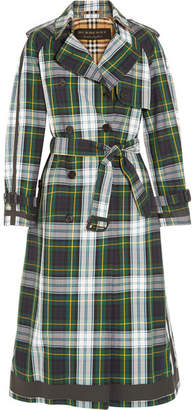Tartan Cotton-gabardine Trench Coat - Green