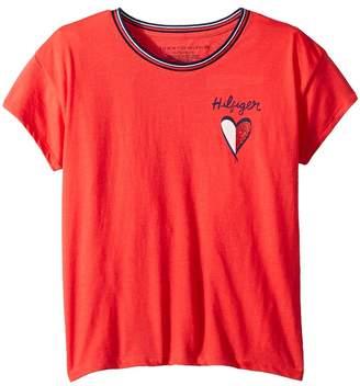 Tommy Hilfiger Left Chest Heart Tee Girl's T Shirt