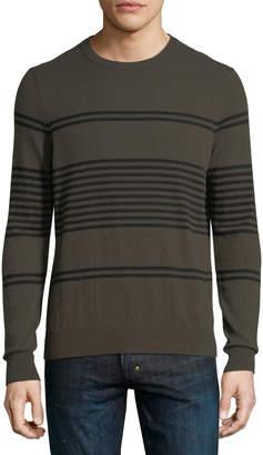 Neiman Marcus Cashmere Striped Sweater