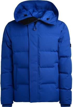 Kenzo Electric Blue Down Jacket With Quilted Fabric And Hood
