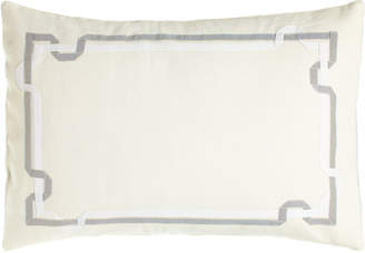 "Vera Wang Double Ribbon Pillow, 15"" x 22"""