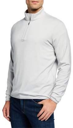 Peter Millar Men's Hobart Stripe Zip Sweater