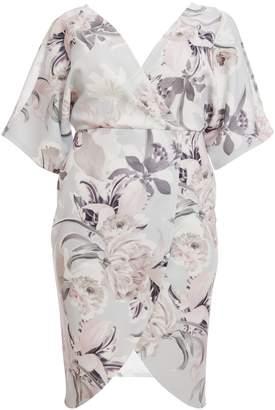 Next Womens Quiz Curve Wrap Front Floral Dress