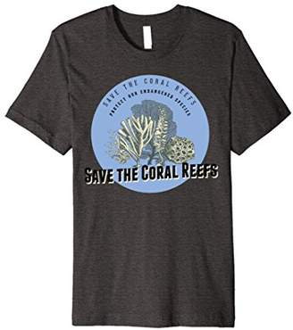 Mens Save the Coral Reefs T-Shirt - Endangered Species Tee 2XL