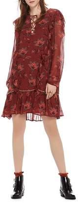 Scotch & Soda Lace-Up Ruffle Dress