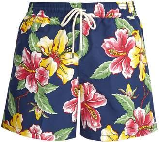 Polo Ralph Lauren Logo-embroidered floral-print swim shorts