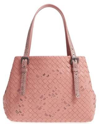 Bottega Veneta Medium Cesta Embroidered Butterfly Leather & Genuine Snakeskin Handbag