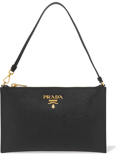 Prada - Textured-leather Pouch - Black