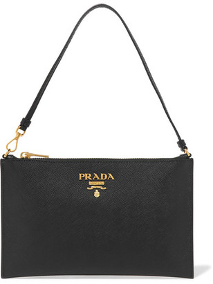 Prada - Textured-leather Pouch - Black $580 thestylecure.com