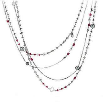 "David Yurman Bijoux Oceanica Two-Row Pearl & Hematine Necklace, 42""L"