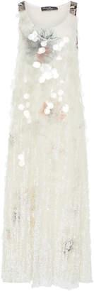 Salvatore Ferragamo Degrade Paillette Embroidered Dress