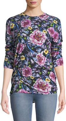 Prabal Gurung Floral-Print Jersey Long-Sleeve Tee