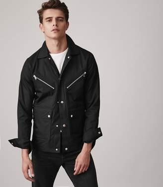 Reiss HEXHAM Button through casual jacket Black