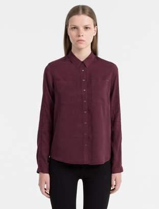 Calvin Klein tunic biker shirt