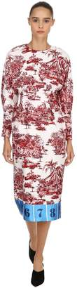 Stella Jean Printed Twill Dress