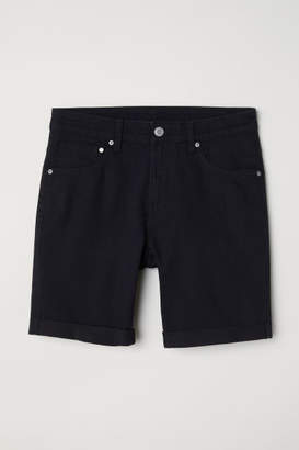H&M Skinny Denim Shorts - Black