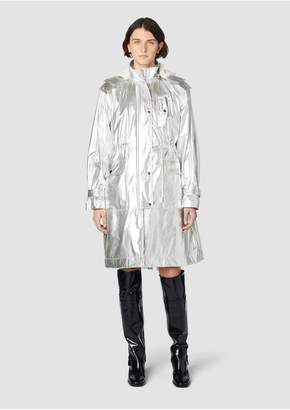 Derek Lam 10 Crosby Metallic Anorak With Removable Shearling Lining