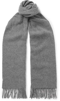 Acne Studios Canada Narrow Fringed Melange Wool Scarf - Gray