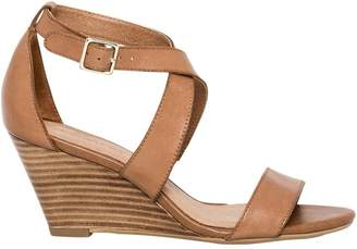 Le Château Women's Leather Criss-Cross Wedge Sandal