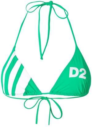 DSQUARED2 logo halterneck bikini top