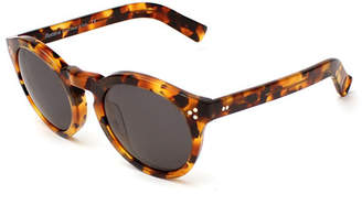 Illesteva Leonard II Monochromatic Round Sunglasses, Light Tortoise