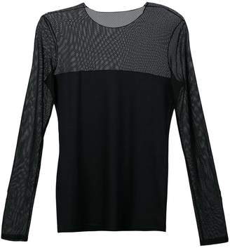 Akris Punto sheer panel blouse