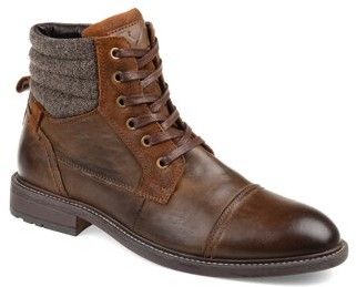 Territory Mens Cap Toe Lace-up Ankle Boot
