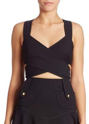 Derek Lam Cross Over Cropped Top $595 thestylecure.com
