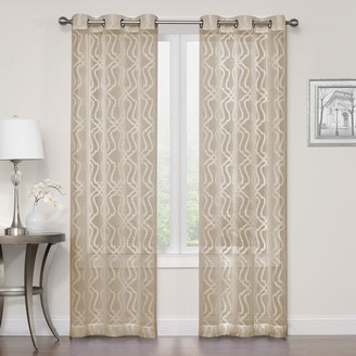 Sonoma Goods For Life SONOMA Goods for Life 2-pack Asbury Clipped Sheer Window Curtains