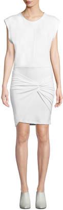 IRO Pearls Sleeveless Twist-Front Short Dress