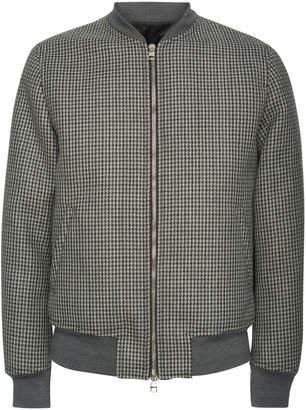 Alexander McQueen Wool-Tweed and Satin Bomber Jacket