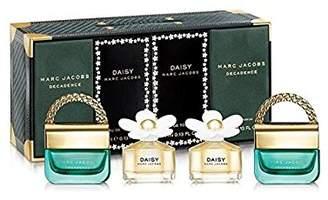 Marc Jacobs Variety 4 Piece Mini Gift Set (2 X Daisy Eau De Toilette 0.13 Oz / 4 Ml + 2 X Decadence Eau De Parfum 0.13 Oz / 4 Ml) for Women, 0.13 fl. Oz.