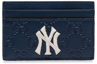 9cb9e1b4769c Gucci blue NY Yankees patch cardholder