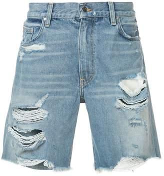 Amiri Thrasher distressed denim shorts