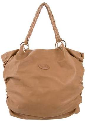 Tod's Ruched Leather Tote