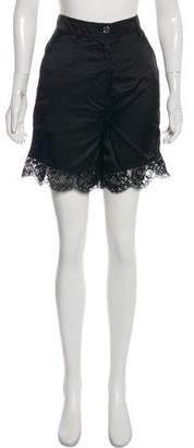 Maison Margiela Lace-Accented Mini Shorts w/ Tags