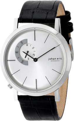 Johan Eric Men's JE1500-04-001 Randers Round Stainless Steel Silver Sunray Dial Watch